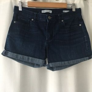 Banana republic roll up jean shorts